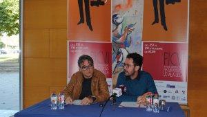 El director del festival, Josep Garcia Varo, i el president el Patronat de Turisme, Pere Segura, durant la roda de premsa.