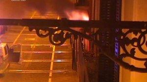 El incendio se produjo en un edificio de la calle Mayor de Pamplona
