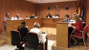El ple de l'Ajuntament de Roda de Berà, reunit aquest dijous al vespre.