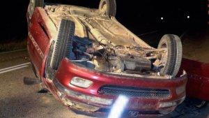 El vehículo que conducía el chico después de sufrir el accidente