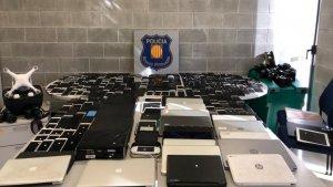 Els Mossos d'Esquadra van trobar el pis que els lladres utilitzaven com a punt de receptació dels robatoris
