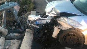 Estat en què ha quedat el vehicle en el camí Serradal