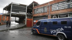 Imagen de archivo de una patrulla de la Policía Nacional en un polígono industrial