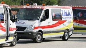 Imagen de archivo de unas ambulancias.