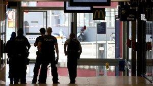 Imagen de la policía alemana en la estación