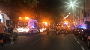 Imagen de los servicios de emergencias en el lugar del incendio