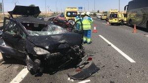 Imagen de los vehículos tras el accidente
