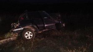 Imagen de uno de los vehículos accidentados en Valladolid