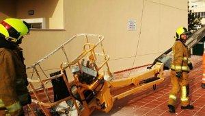 Imagen del accidente laboral sufrido en Dénia (Alicante).