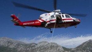 Imagen del helicóptero medicalizado del Gobierno de Cantabria.