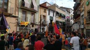 Imatge d'arxiu d'un acte independentista a la plaça de la Vila de Torredembarra-