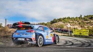 Imatge de Dani Sordo durant el Rally RACC Catalunya-Costa Daurada 2017.