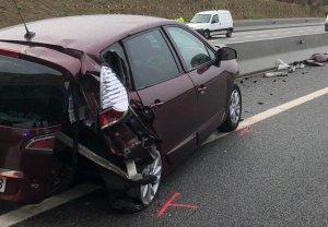 Imatge de l'accident a primera hora d'aquest dijous a l'A-2