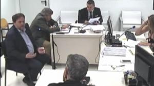 Imatge d'Oriol Junqueras declarant a l'Audiència Nacional
