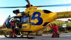 La búsqueda se realizó son uno de los helicopteros del SEPA