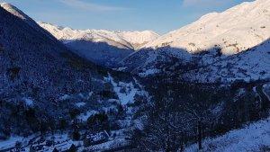 Las nevadas aunque suben de cota, dejarán más grosor en los Pirineos este miércoles