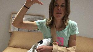 L'atleta Laura Orgué va penjar una imatge seva a les xarxes després de ser atropellada