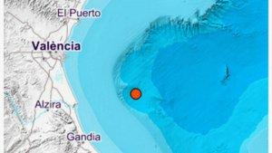 Mapa del Golfo de Valencia