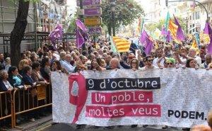 Marxa del 9 d'Octubre en favor de la cultura i llengua valenciana