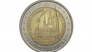 Moneda de dos euros del Vaticano