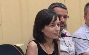 Montse Soler, regidora d'ERC, al Ple Municipal