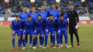 Onze del CF Reus al camp de l'Almeria