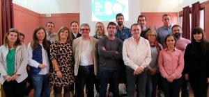 Productors de la Noguera, amb representants del Departament d'Agricultura i del consell comarcal