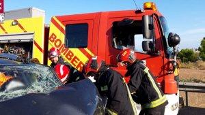 Quatre persones resulten ferides en un accident amb cinc vehicles implicats a Benicàssim
