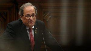 Quim Torra, en un ple al Parlament de Catalunya