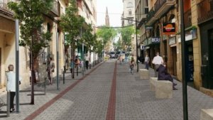 Recreació virtual de com quedarà el carrer Fortuny quan s'executi el pla Illa Corsini.