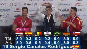 Sergio Canales després de conèixer la puntuació dels jutges