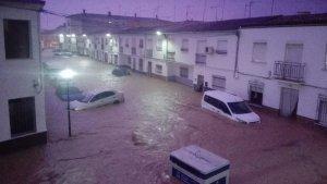 Teba y Campillos se han inundado esta madrugada después de varios aguaceros torrenciales