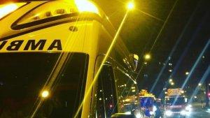 Una ambulància del SEM, de servei