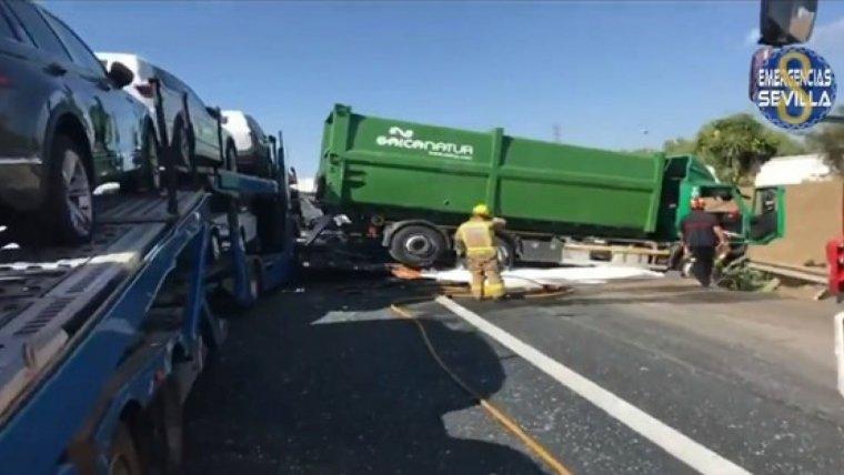 Imagen de accidente ocurrido en Sevilla