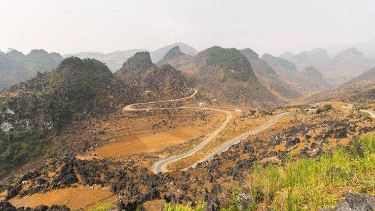 Imagen de Ha Giang, la región montañosa de Vietnam.
