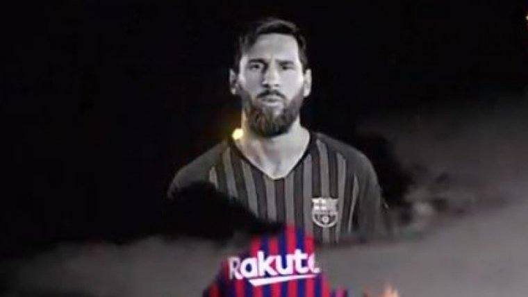 Leo Messi, en la imatge promocional del Barça per Halloween