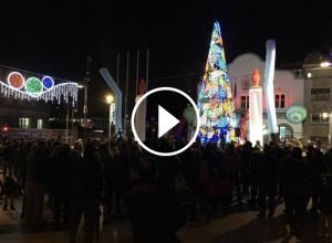 A banda de l'encesa dels llums de Nadal, avui també s'ha inaugurat el Trenet.