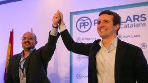 Alejandro Fernández i Pablo Casado (PP)
