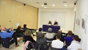 Aquest dilluns es va presentar el llibre 'Aigua del Carme', d'Anselm Aguadé.