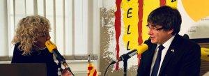 Carles Puigdemont durant la seva entrevista a 'El matí de Catalunya Ràdio'