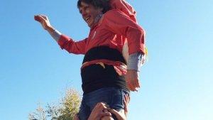 Carles Puigdemont ha fet un pilar de 4 amb la Colla Vella dels Xiquets de Valls