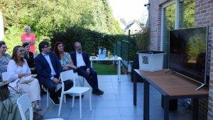 Carles Puigdemont, vivint la Diada des de Waterloo
