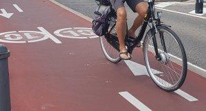 Carril bici de la façana litoral de Cambrils.