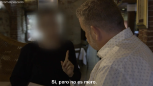 Chicote en un restaurante de Madrid