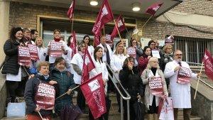 Concentració de metges a Tarragona