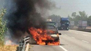 Cotxe incendiat a l'AP-7