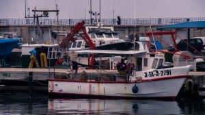 Durant la veda, els pescadors posen a punt les embarcacions.