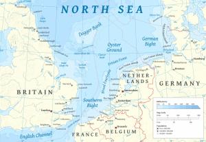 El canal de la Mànega i el mar del Nord