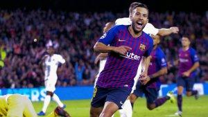 El jugador del Barça Jordi Alba