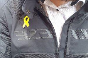El llaç groc que portava Gabriel Navarro